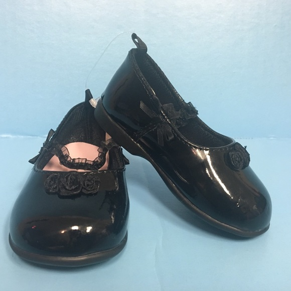 ba0f866e Black Patent Leather Dressy Toddler Shoes NWOT